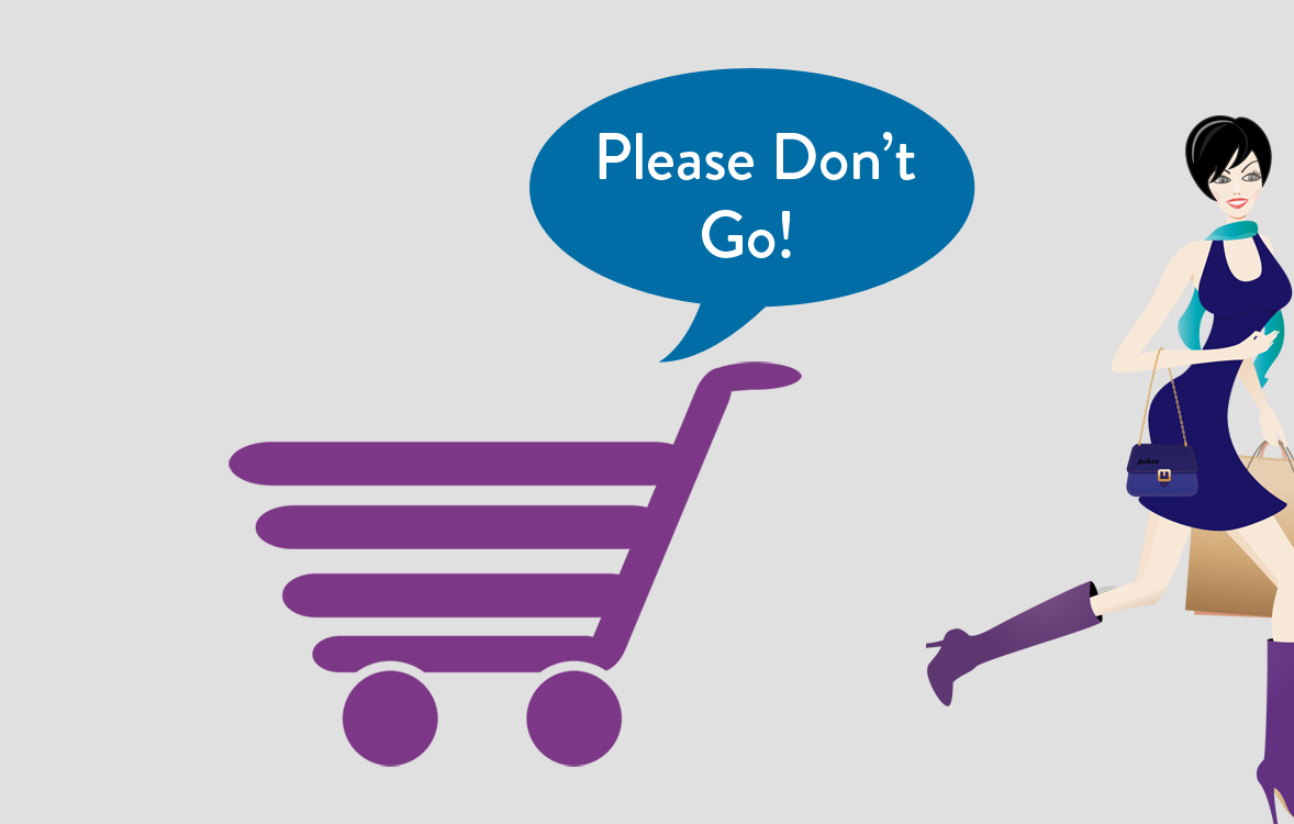 Please dont go shopping cart _ woman Message Mate helps