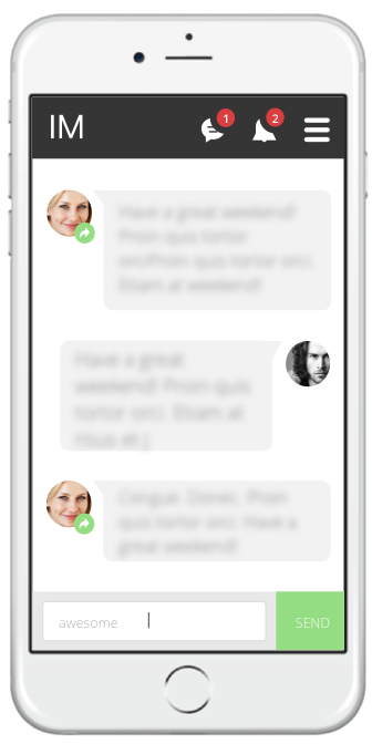 Message Mate enables text and IM conversations on mobile