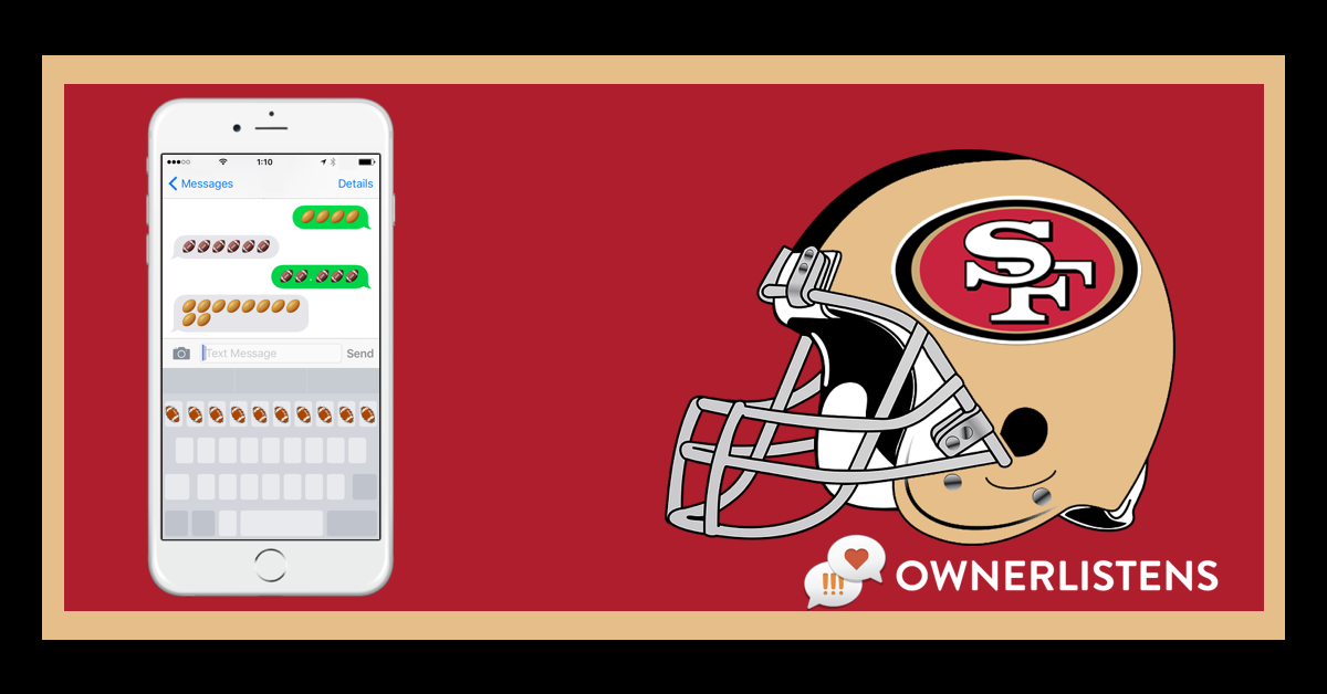 SF Fortyniners 49ers OwnerListens OL