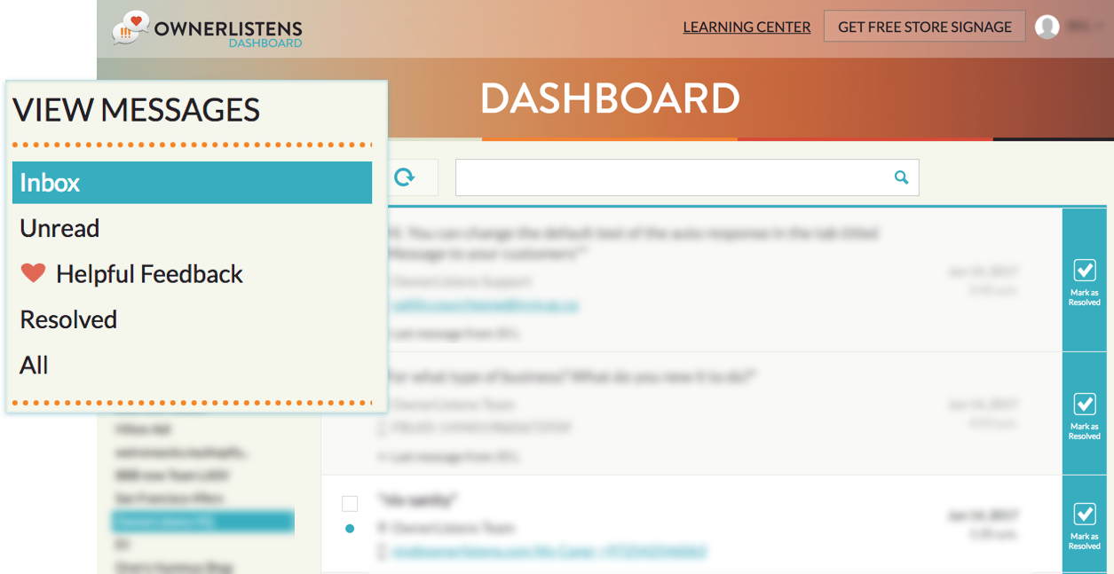 Existing dashboard